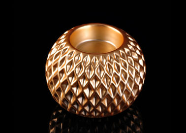 Luxury Ceramic Tealight Holders Honeycomb Design Electroplating Effect