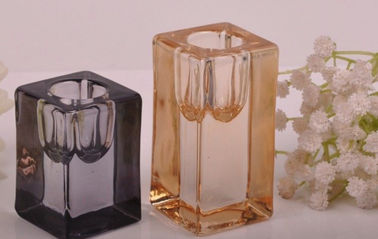 Tall Cylinder Square Recycled Glassware Tealight Personalized Glass Candle Holders