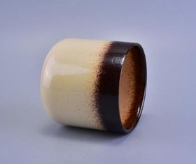 Glazing Ceramic Tealight Candle Holders , Candle Jars For Candle Making