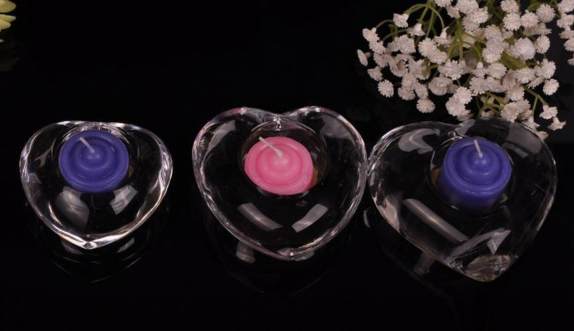 High White Transparent Glass Tealight Candle Holders For Wedding