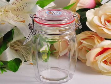 White Crystal Glass Tableware Wide Mouth Mason Jar For Kitchen Anti - Impact